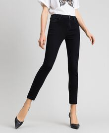 Five-pocket skinny jeans Black Woman 192TP2430-01