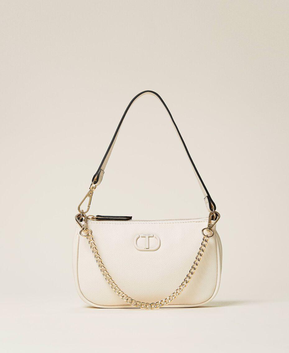 Bolso de hombro con cadena y logotipo Negro Mujer 212TB7050-02