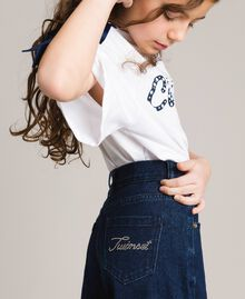 Jeans wide leg Denim Scuro Bambina 191GJ2600-04