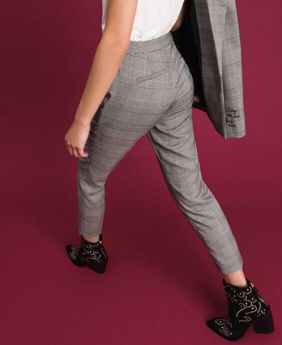 Glen plaid cigarette trousers