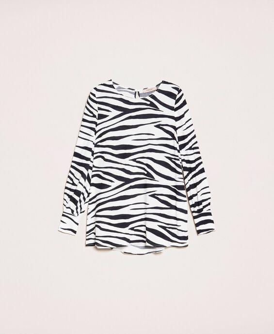 Bluse mit Animal-Print