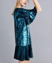 Sequin dress Octane Blue Woman TA82DC-02