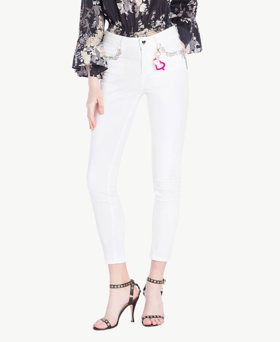 Skinny trousers White Woman YS82ZQ-01