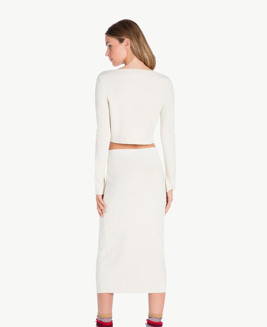 Pull court Blanc Cachemire Femelle PA7361-03
