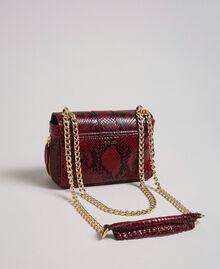 Маленькая сумка через плечо Rebel с питоновым принтом Питоновый Принт Красная Свекла женщина 192TO7231-04