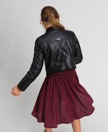 Байкерская куртка из искусственной кожи Красный Ruby Wine Pебенок 192GJ2010-03