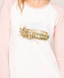 """Camicia da notte con balza Rosa """"Peachskin"""" Donna 201LL27AA-04"""