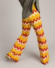 Multicolour jacquard trousers Multicolour Jacquard Child 191GJ2272-03