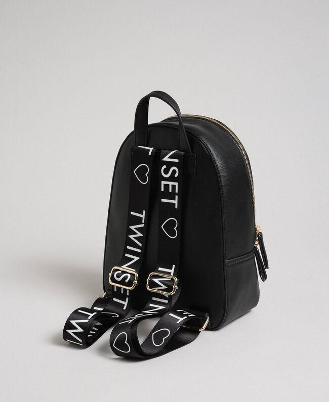 Рюкзак из искусственной кожи с логотипом Черный Pебенок 999GJ7017-03