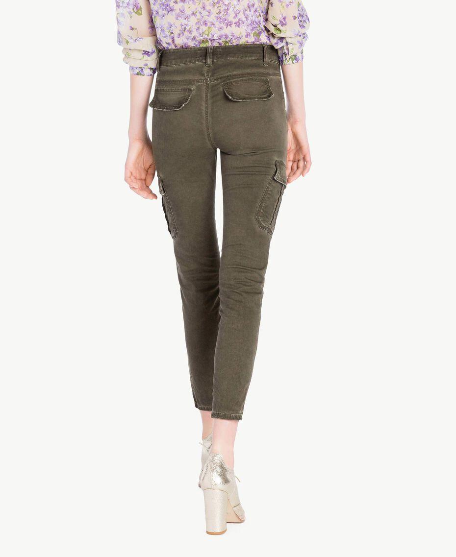 Pantalone cargo slim Verde Militare Donna PS82K4-03