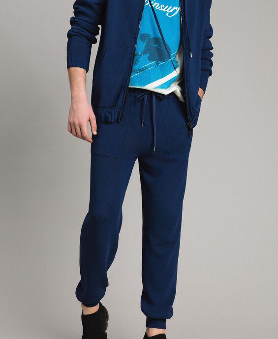 Cotton-blend jogging trousers