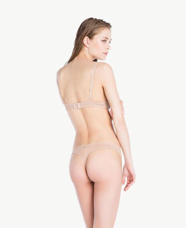 "Lace thong ""Dusty Cream"" Beige Woman LS8B88-04"