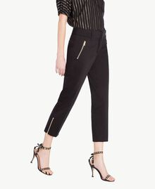 Satin trousers Black Woman TS826B-02