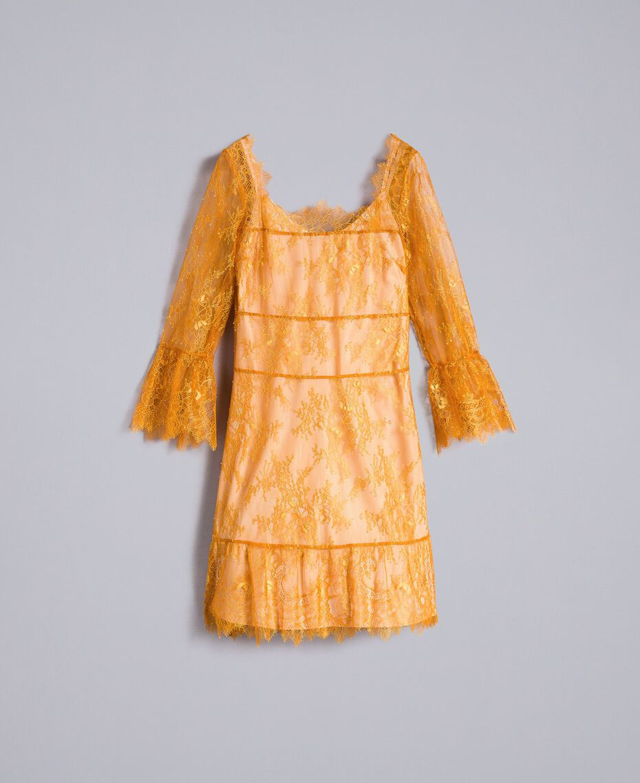 Robe courte en dentelle de Valenciennes Brandy Femme PA82FY-0S