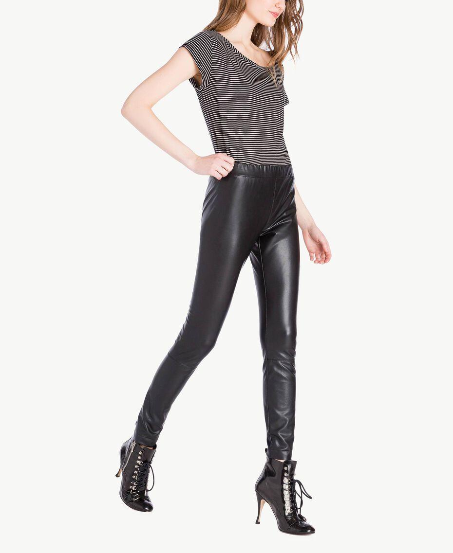 Legging similicuir Noir Femme PS82GA-02