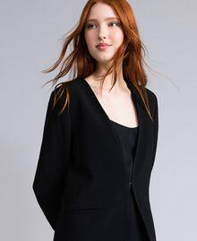 Envers satin tuxedo jacket Black Woman QA8TGN-04