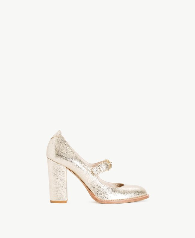 TWINSET Laminated court shoes Platinum Woman CS8PC3-01