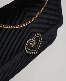 Grand sac à bandoulière en velours Noir Femme 192TO8070-03