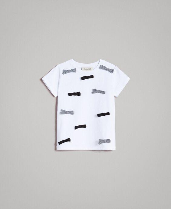 T-shirt en coton avec des nœuds