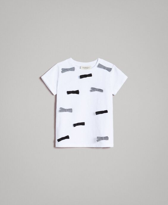 Cotton T-shirt with bows
