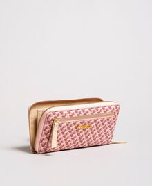 Printed wallet with all-over butterflies Pearl Pink Butterflies Print Woman 191TA7177-01