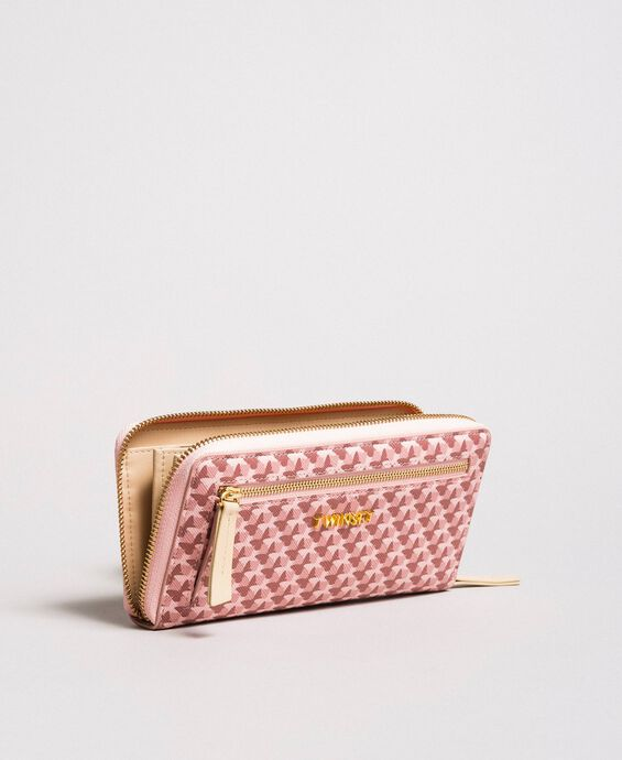 Printed wallet with all-over butterflies
