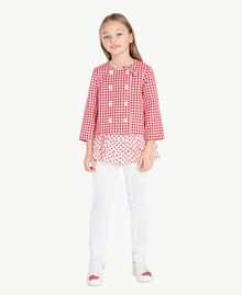 """Top pois Stampa Pois Bianco """"Papers"""" / Rosso Melograno Bambina GS82PQ-06"""