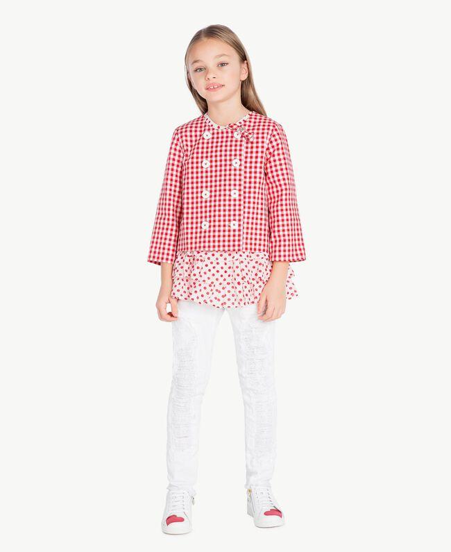 Gingham jacket Gingham / Pomegranate Red Jacquard Child GS82ZA-06