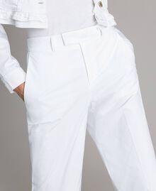 Pantalon en popeline Blanc Femme 191TT2232-04