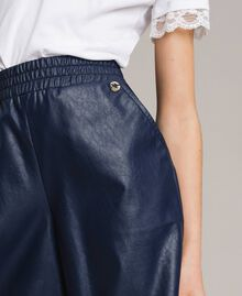 Faux leather cropped trousers Indigo Child 191GJ2100-04