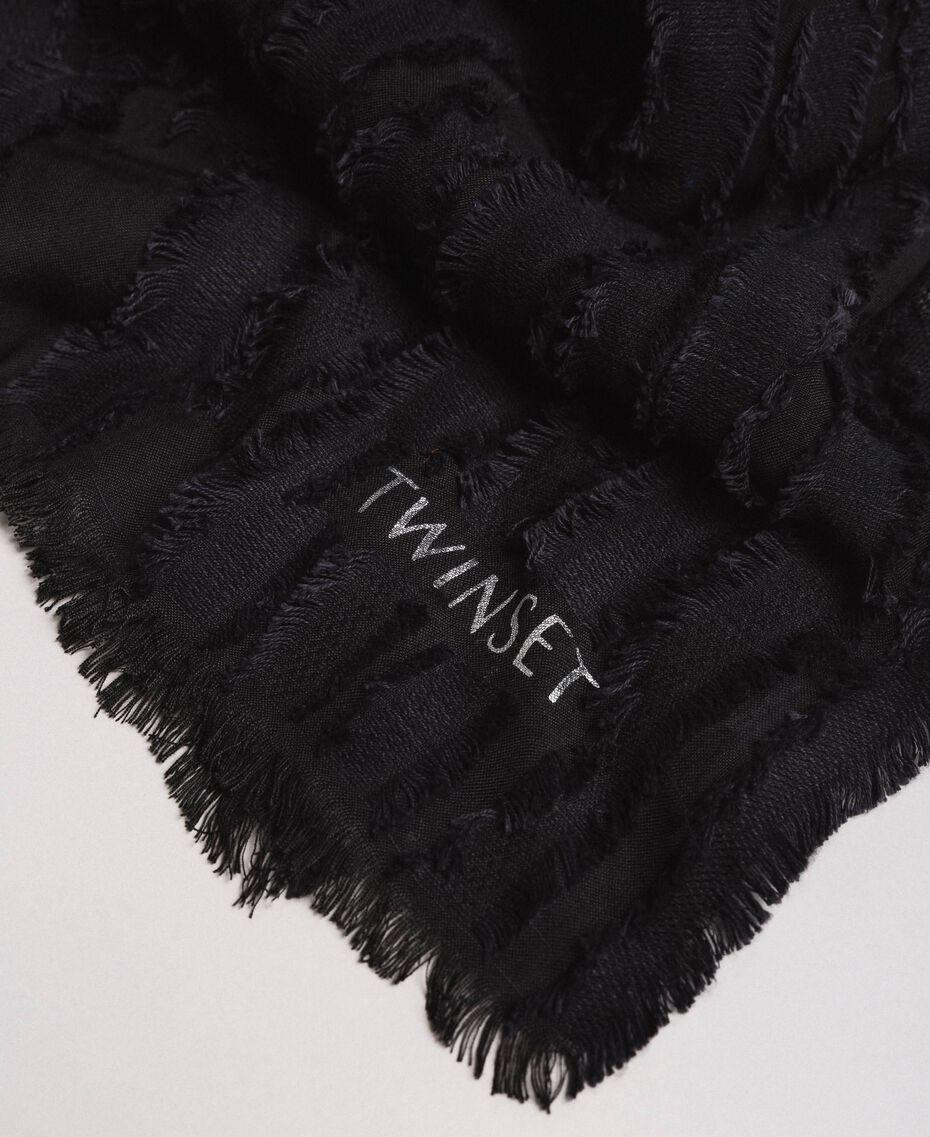 Cotton scarf Black Woman 191TA436A-02