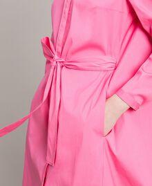 Hemdblusenkleid aus Popeline Rosa Kamelie Frau 191MP2215-06