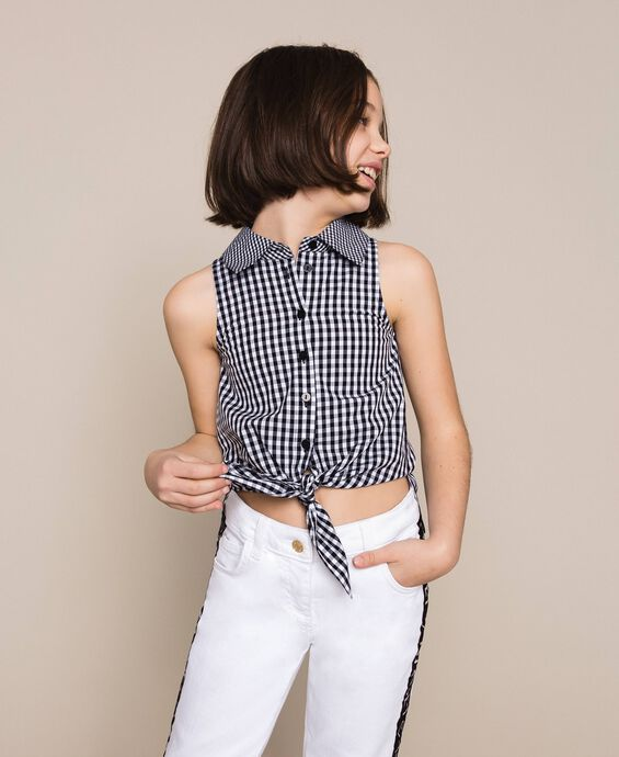 Gingham top with bow