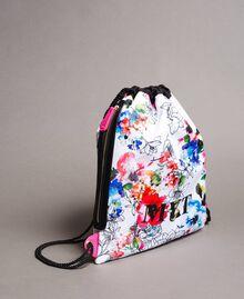 Rucksack mit Blumenmuster Fluoreszierendes Rosa Frau 191MO8061-01