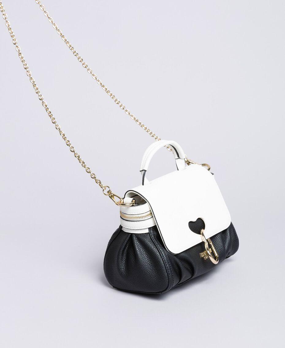 Petit sac Cécile avec cœur incrusté Bicolore Noir / Blanc Glace Femme VA8PA2-01