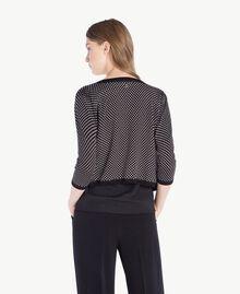 Pearl mandarin collar top Polka Dot Print Woman PS83LD-03