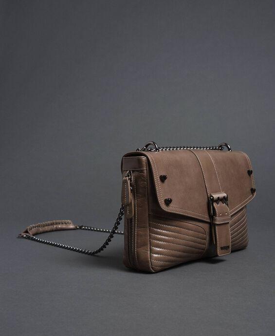 Large Rebel leather shoulder bag