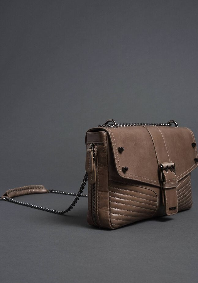 Grand sac à bandoulière Rebel en cuir