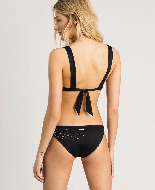 Solid colour bikini bottom Black Woman 191LMMG66-03