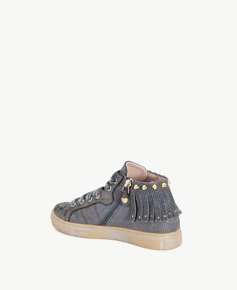 Fringed sneakers Lava Grey Female HA78C1-03