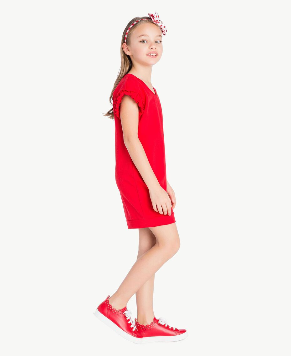 Frilled dress Pomegranate Red Child GS82KP-03