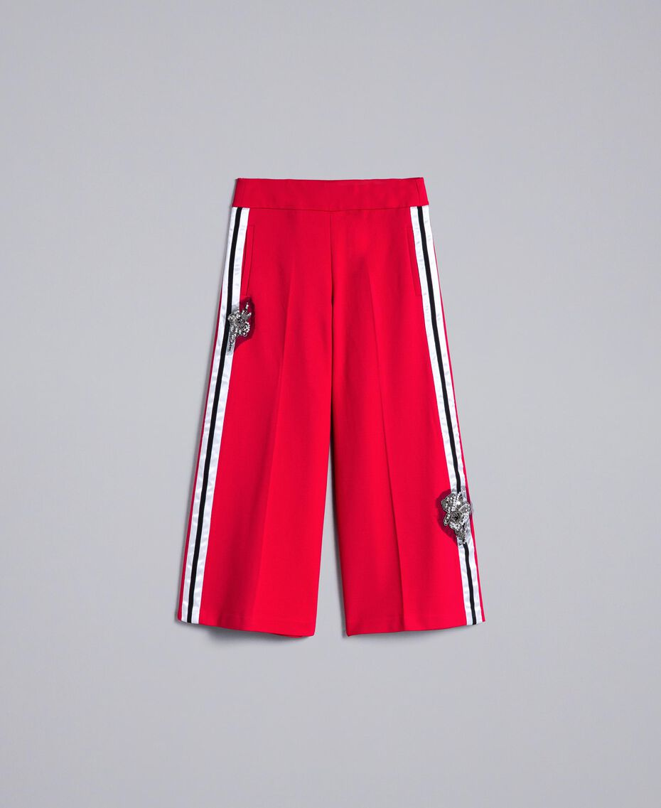 Milan stitch cropped trousers Venetian Red Woman PA821D-0S