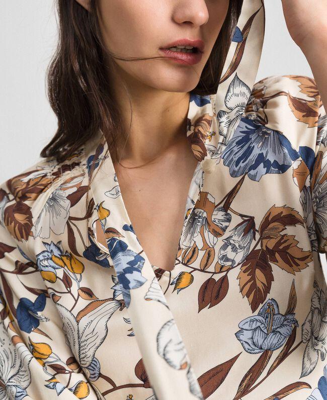 Robe avec imprimé floral Imprimé Fleurs d'Automne Crème Femme 192ST2220-01