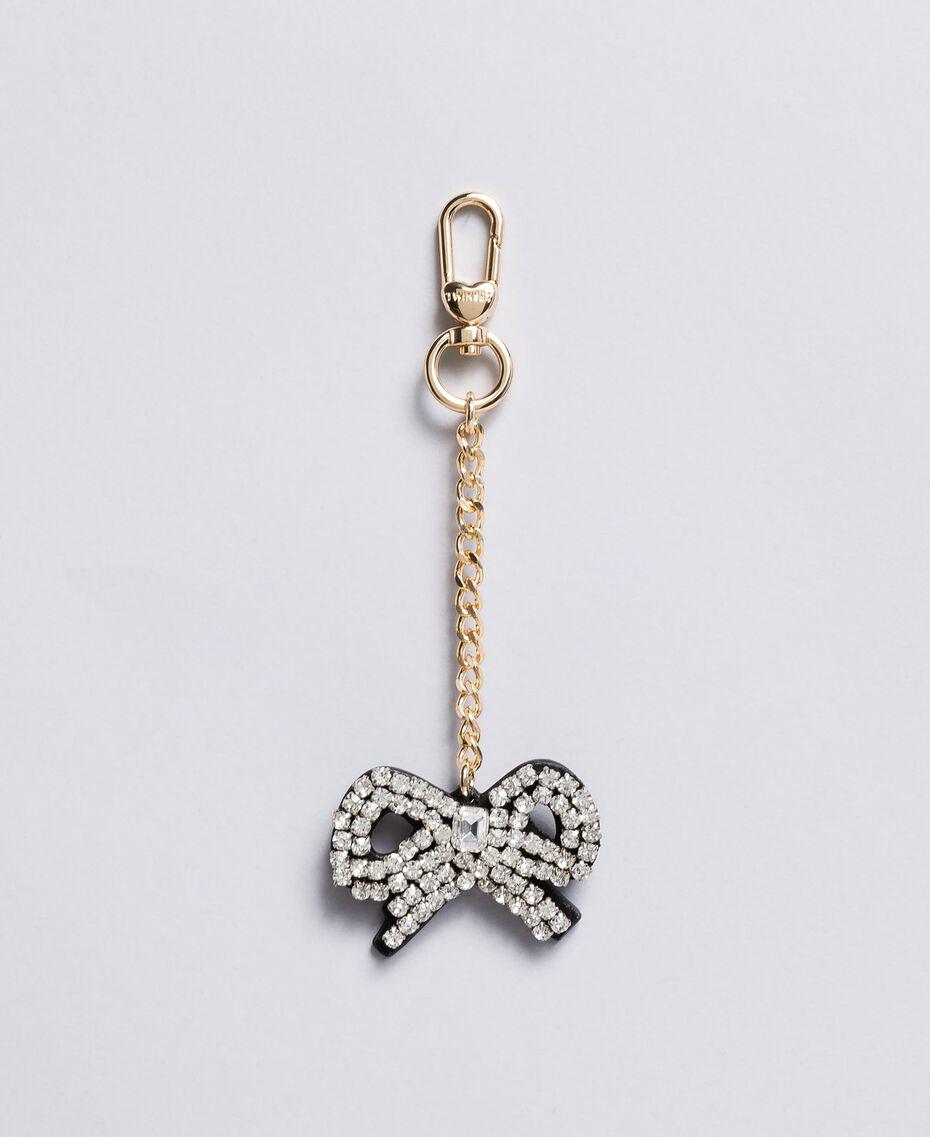 Schlüsselanhänger aus Metall mit Strass Kristall Frau AA8PMG-01