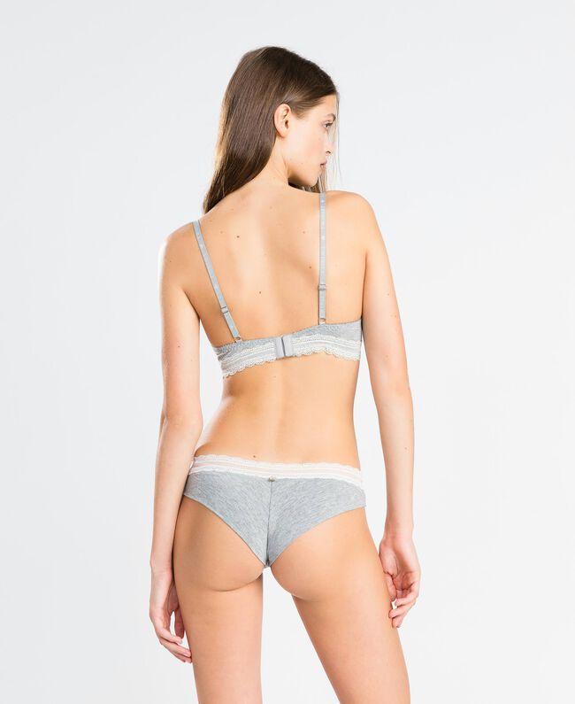 Soutien-gorge triangle en viscose stretch chinée Gris moyen chiné Femme LA8B22-03