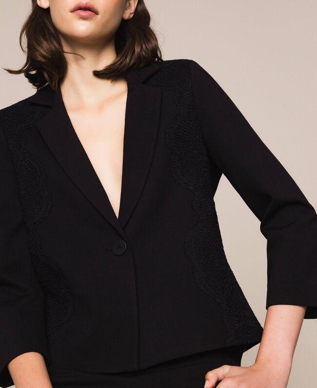 Blazer avec dentelle Noir Femme 201TP212B-04