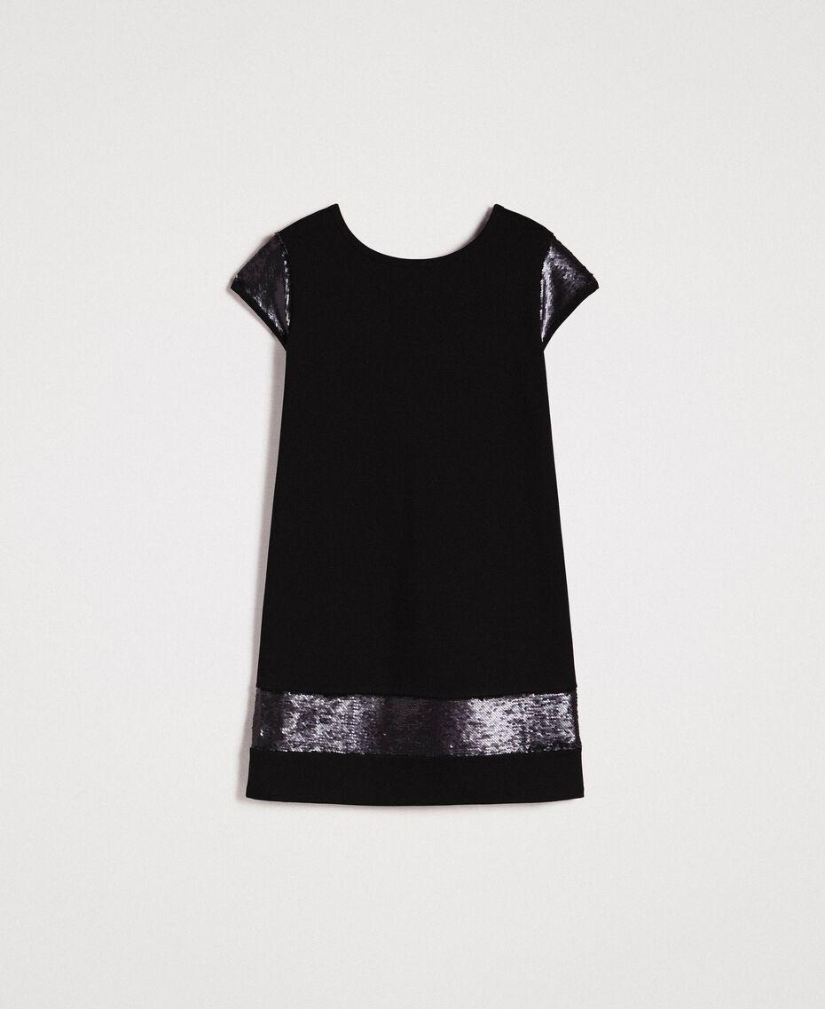 Kleid mit Pailletten Schwarz Frau 191LB22NN-0S
