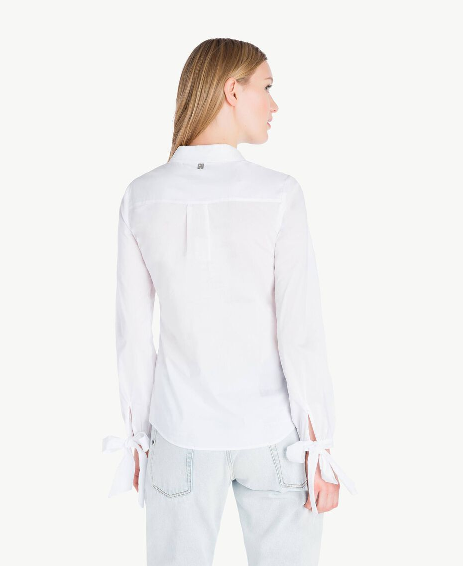Bow shirt White Woman JS82DF-03