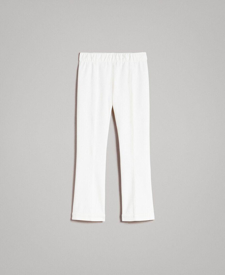 "Milan stitch  flared trousers ""Silk"" White Woman 191TP2424-0S"