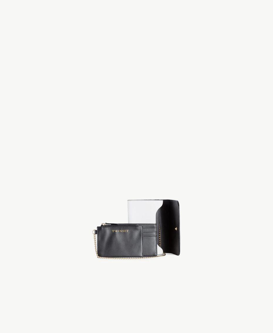 Geldbörse aus Kunstleder Optisches Weiß / Schwarz Frau RS8TCV-03
